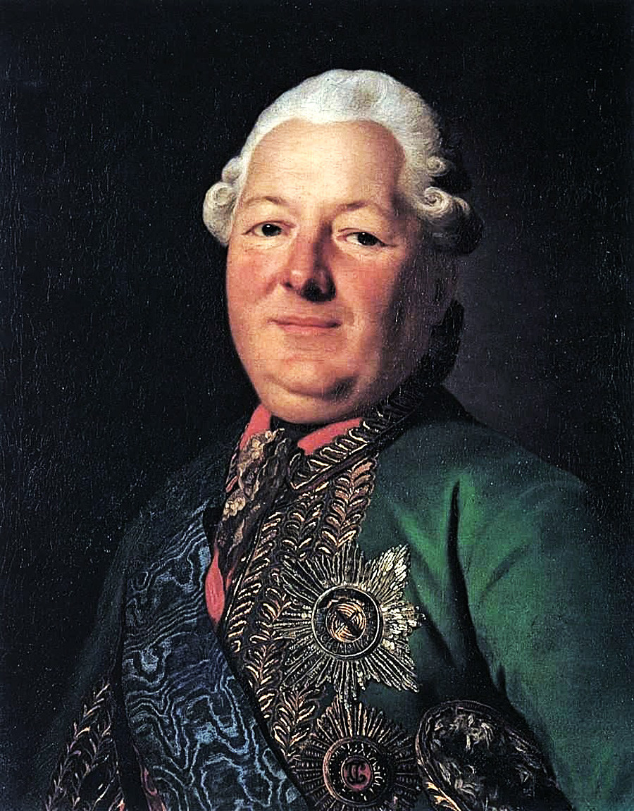 Василиј Михајлович Долгоруков-Кримски (1722-1782), руски генерал и московски губернатор, Александар Рослин (1718-1793).
