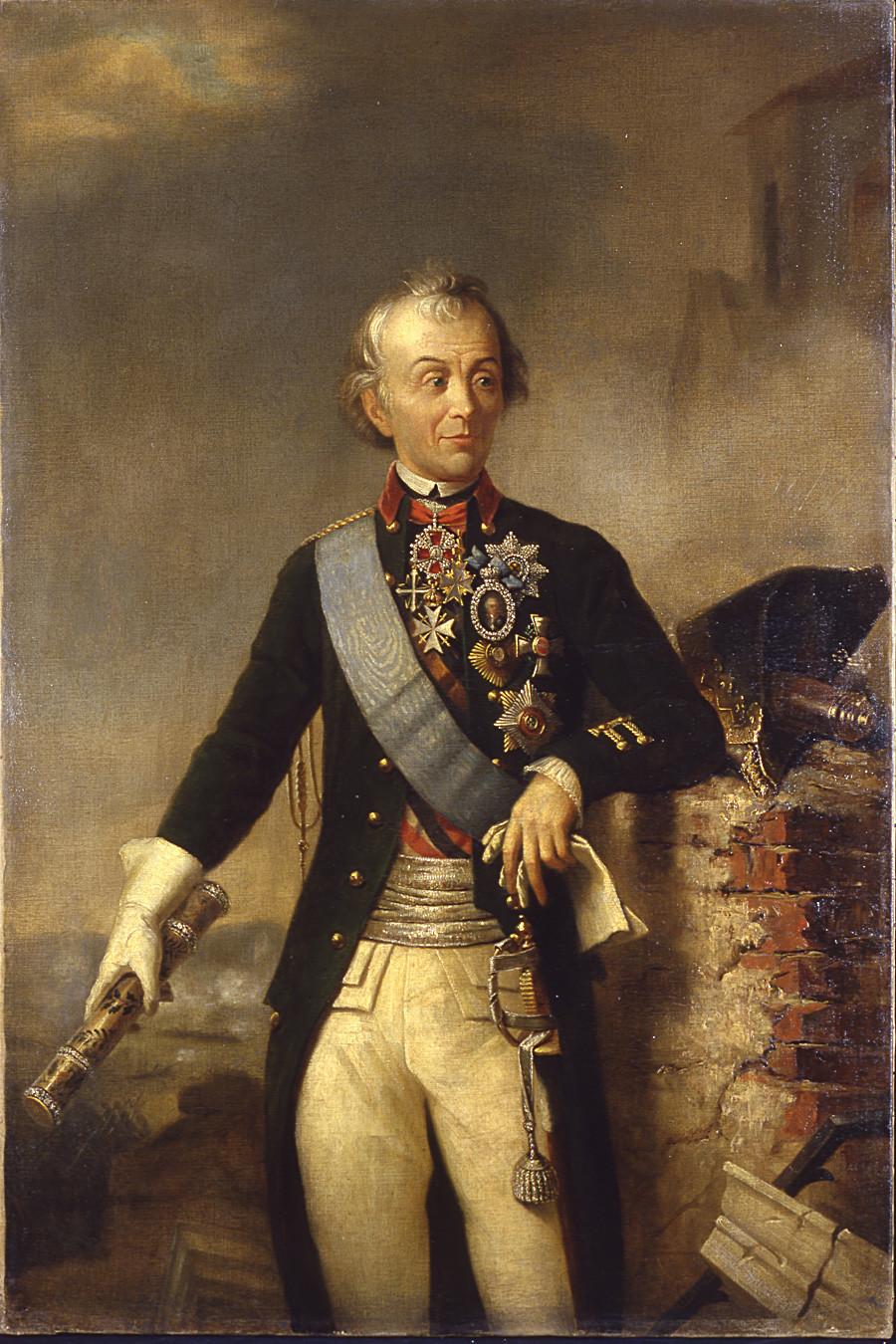 Александар Васиљевич Суворов, гроф Суворов од Рамника, кнез италијански, (1729–1800).