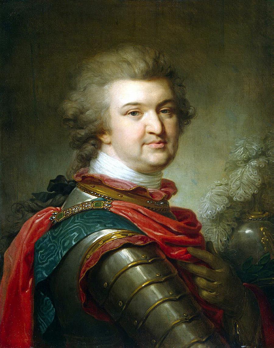 Retrato do estadista russo Príncipe G. A. Potiomkin-Tavritcheski