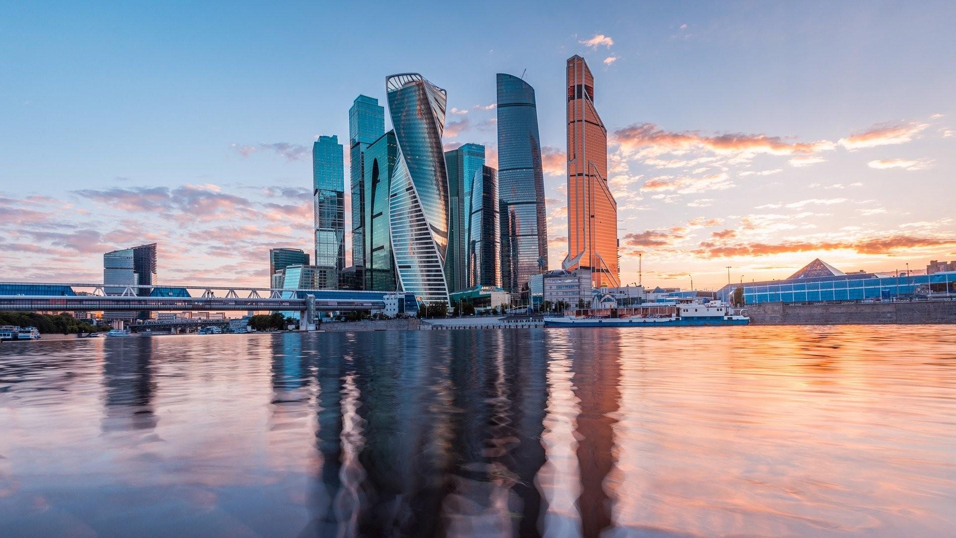 Les gratte-ciels du quartier d'affaires Moscow-City