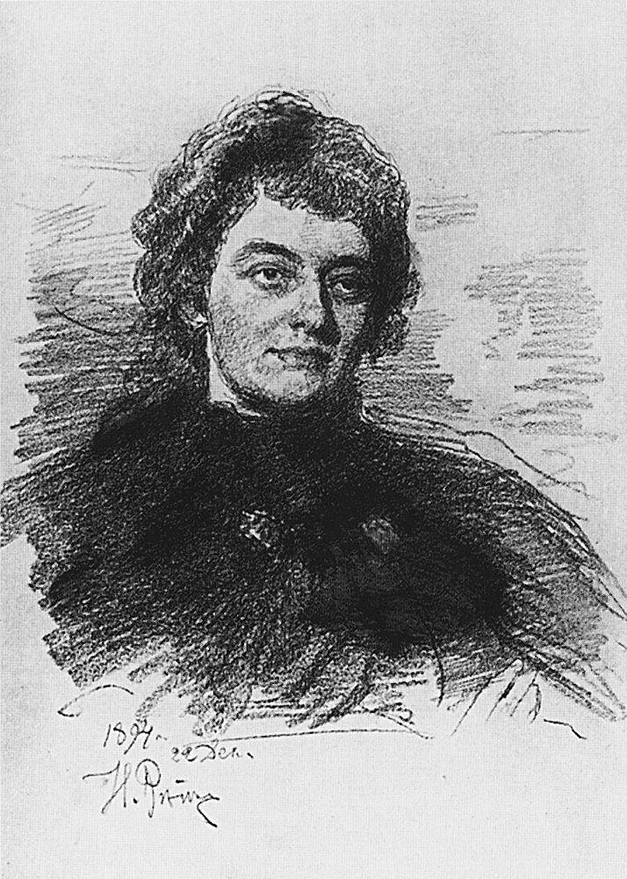 Retrato de Guíppius por Iliá Repin, 1894