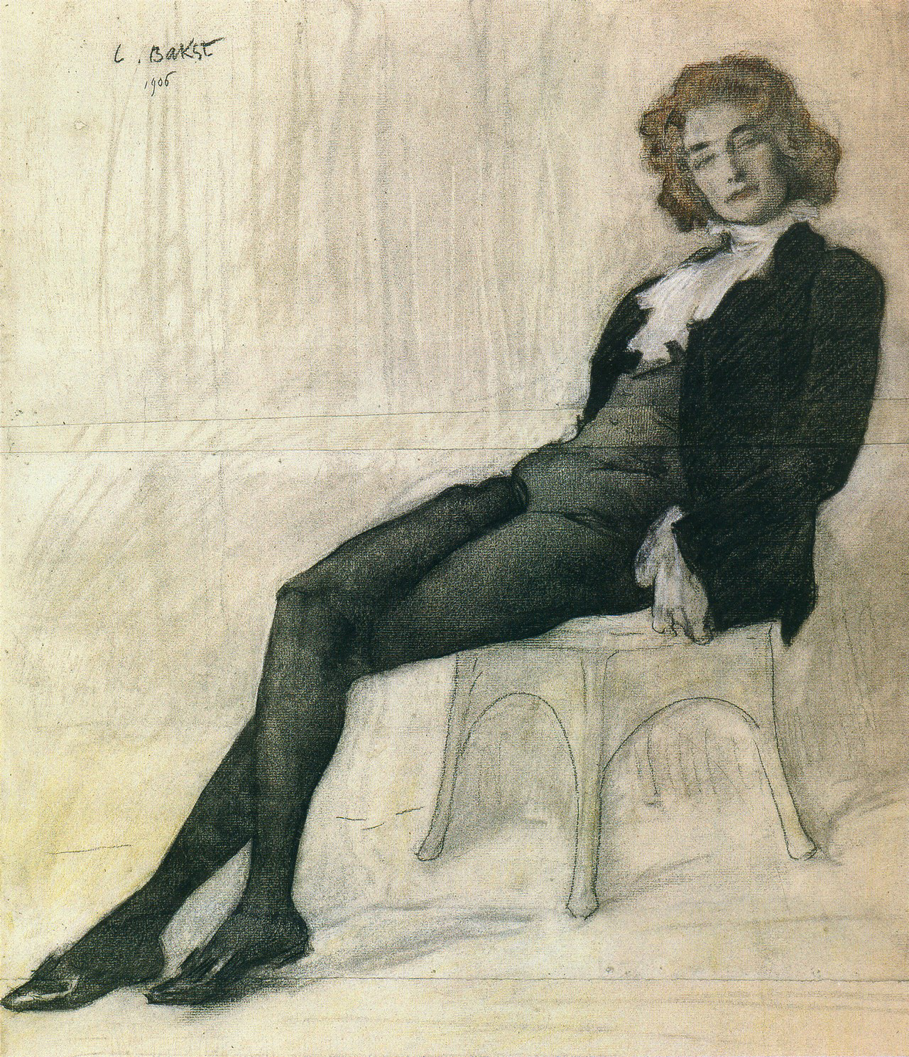 Retrato de Guíppius por Leon Bakst, 1906