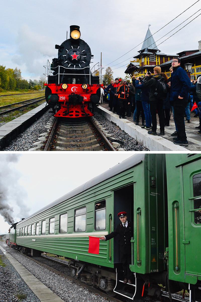 Trem de viagens interurbanas Moscou-Tver