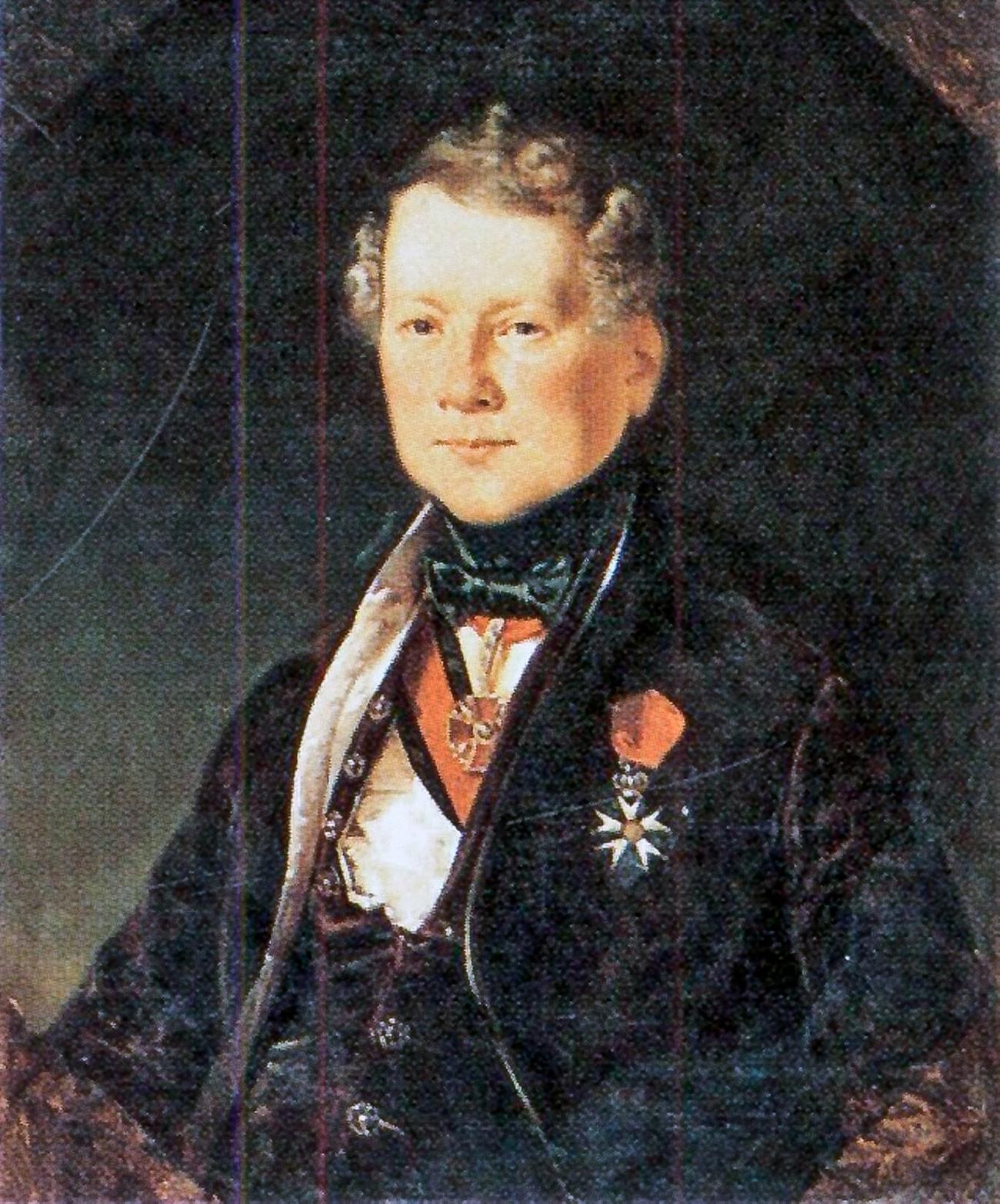 Henri Louis Auguste Ricard de Montferrand by Eugène Pluchart, 1834