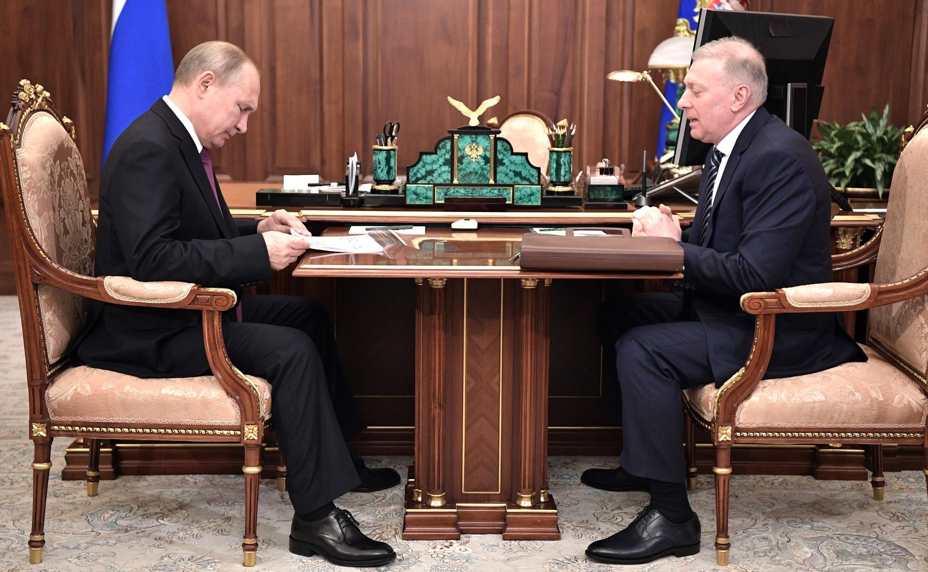 Vladimir Putin i Musa Bažajev