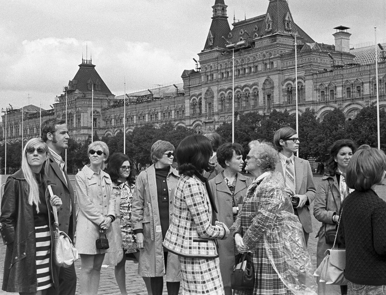 Touristen aus den USA in Moskau, 1972