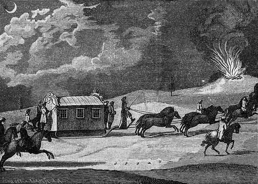 La carrozza di Caterina la Grande durante il suo viaggio verso la Crimea