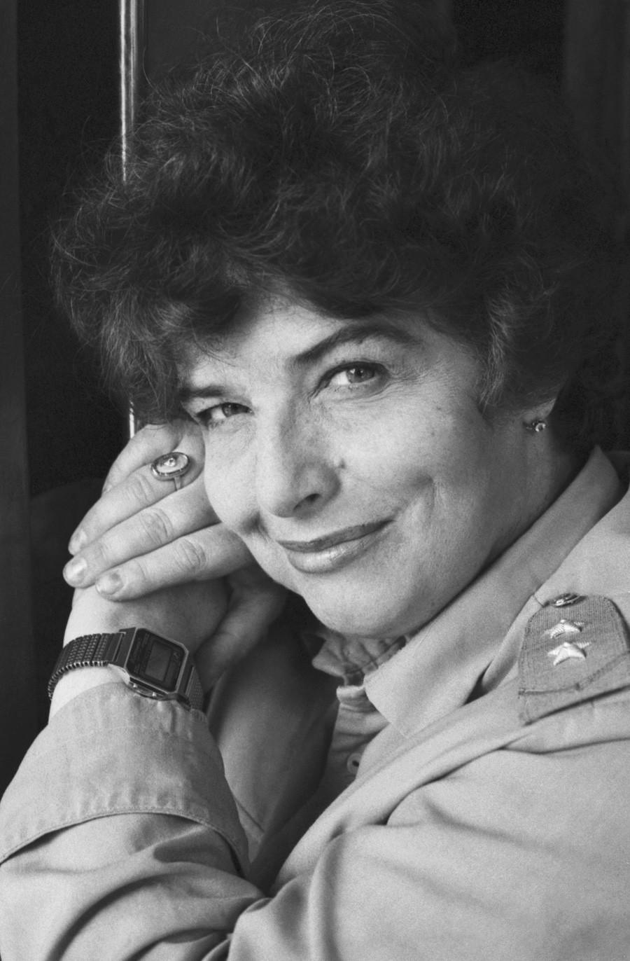 Maquinista del metro de Moscú, Tamara Aranchi, el 8 de junio de 1989.