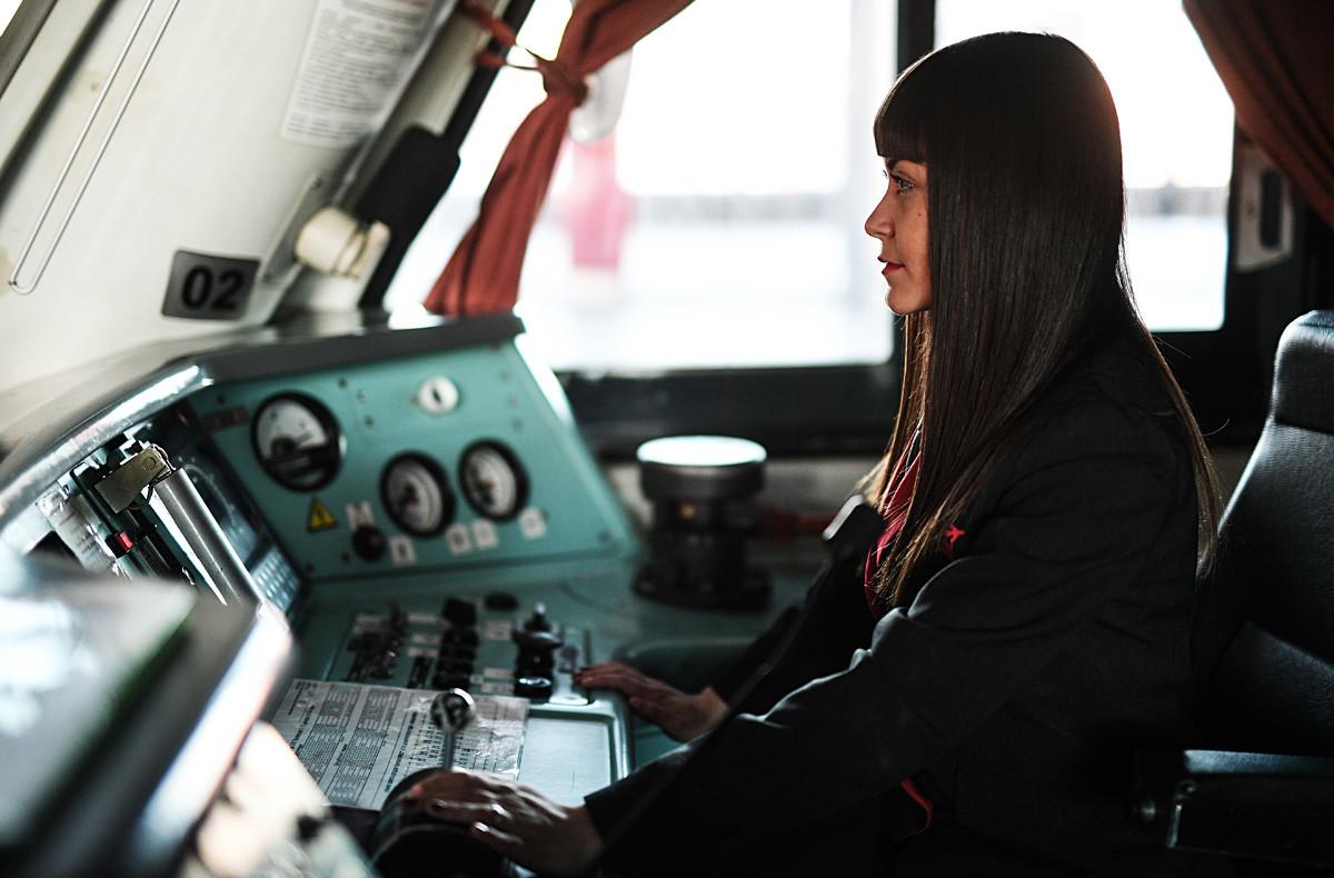 Maquinista de Aeroexpress, Yulia Yúrova.