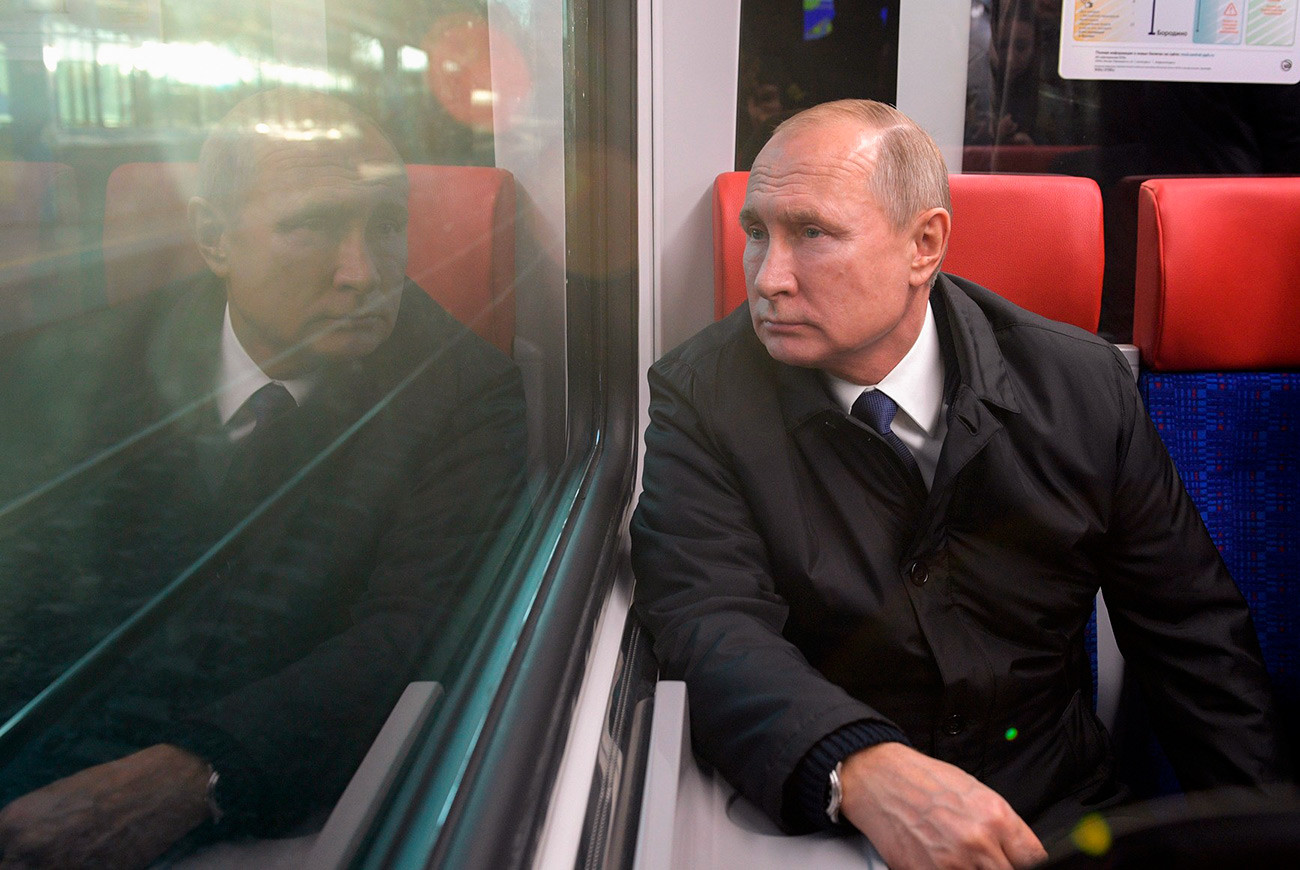 Vladimir Putin at the opening of the MCD.
