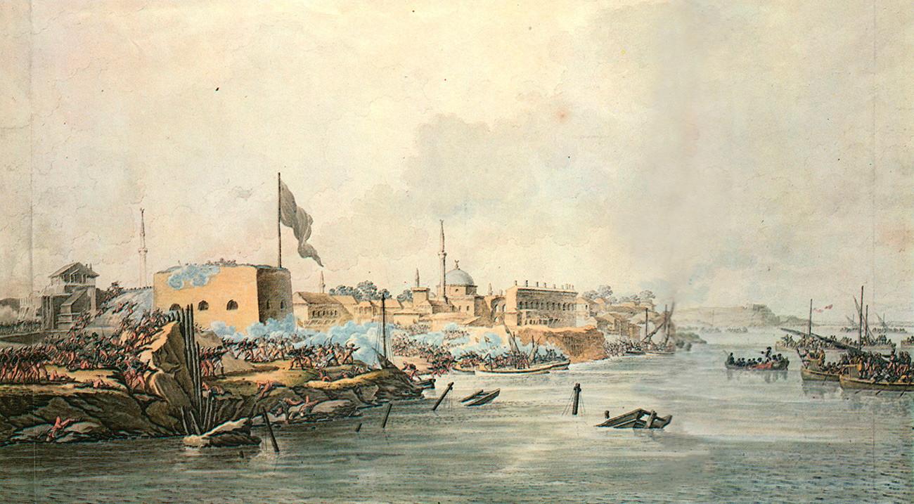 S. Šifljar. Juriš na Izmajlovsko trdnjavo