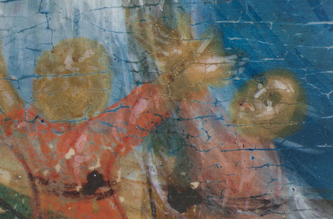 Un frammento dell'icona della Madre di Dio