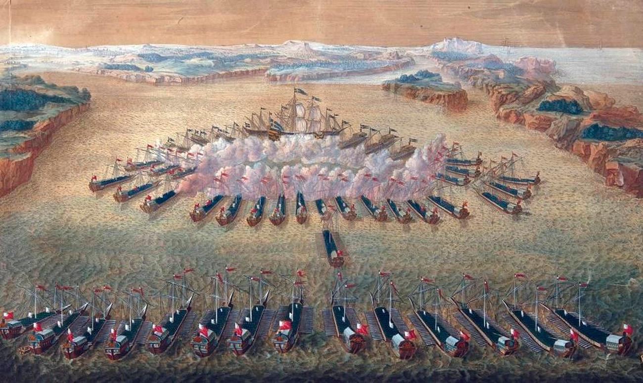 Batalla de Gangut.