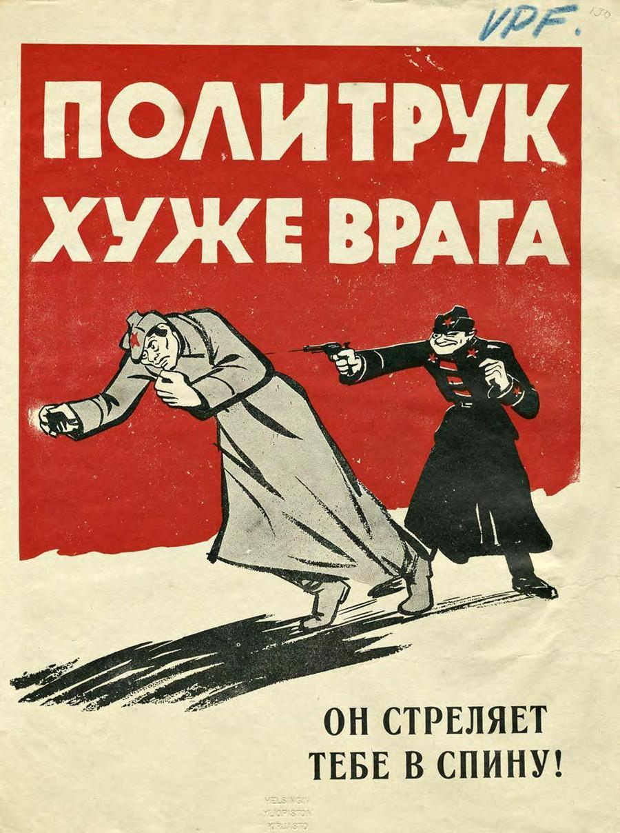 « L'instructeur politique est pire que l'ennemi. Il te tire dans le dos ! »