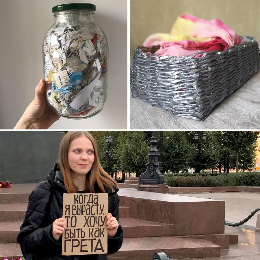 Irina a inscrit sur sa pancarte;