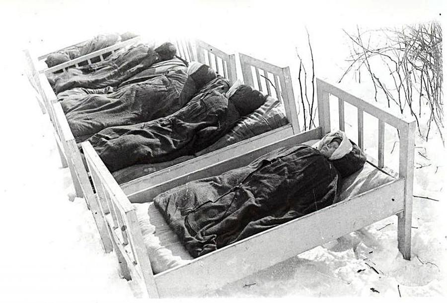 Tidur siang di luar pada 1950-an.