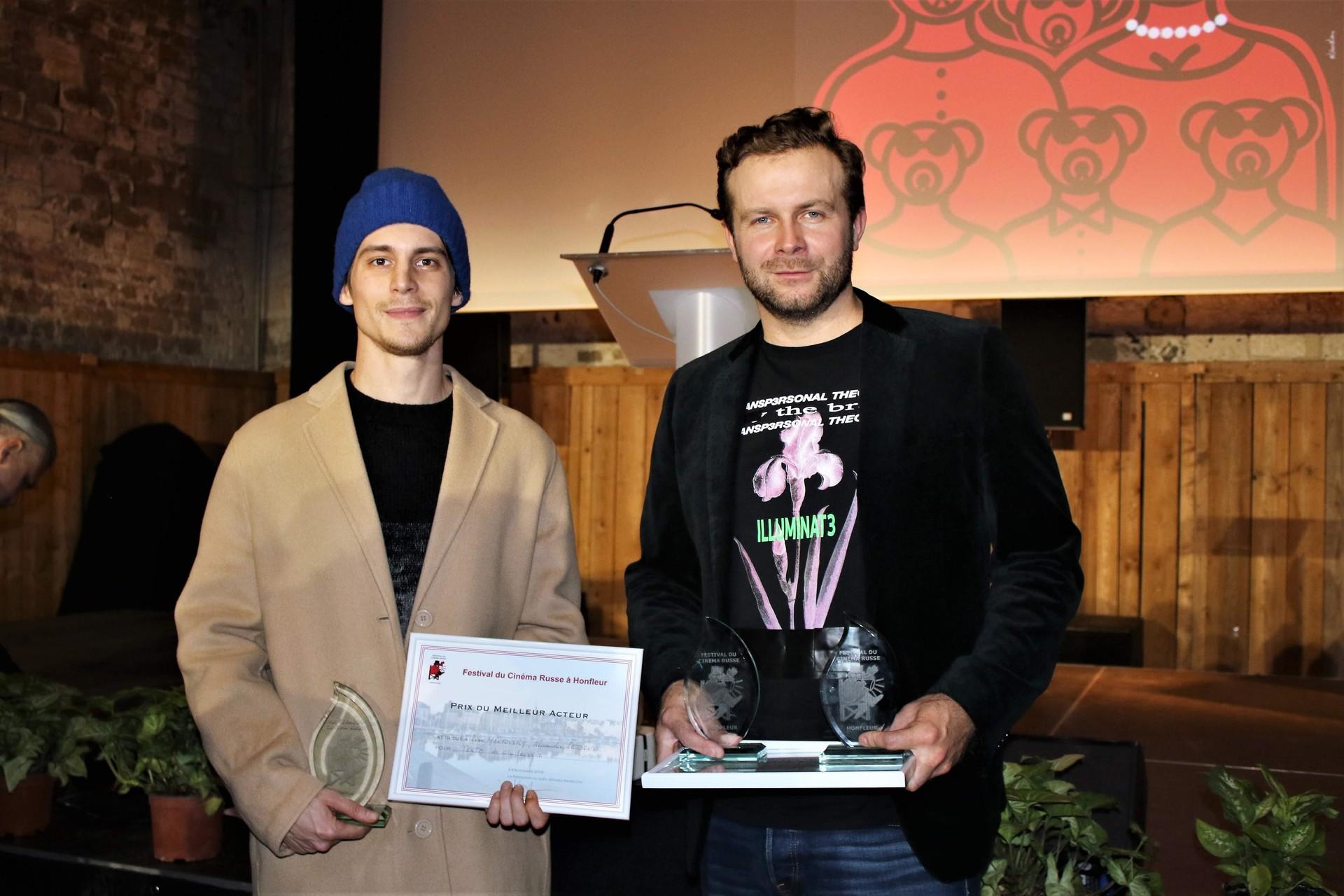 Klim Shipenko, réalisateur du film Texto et Ivan Yankovsky, acteur