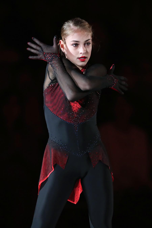 Alena Kostornaia tampil selama Dream On Ice 2019 di Pusat Seluncur Es Shinyokohama di Kanagawa, Jepang, 28 Juni 2019.
