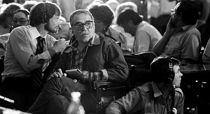 Gabriel García Márquez en el Festival de Cine Internacional de Moscú, 1987. M.