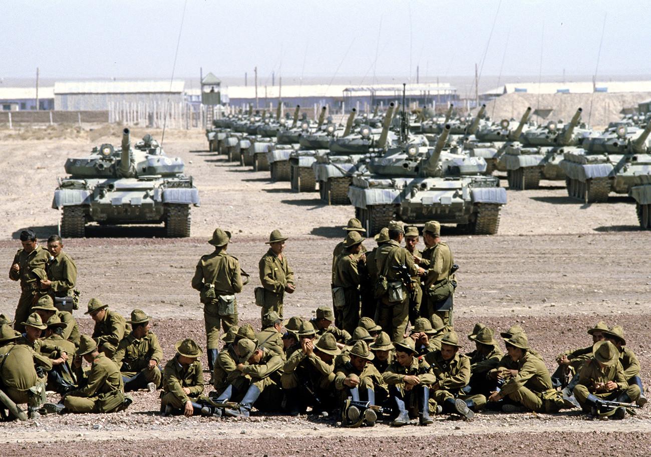 Régiment de chars de la Garde soviétique en Afghanistan