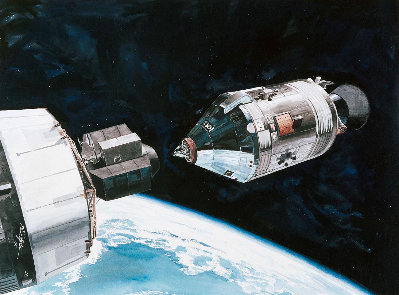 Apollo v poslednji fazi spajanja