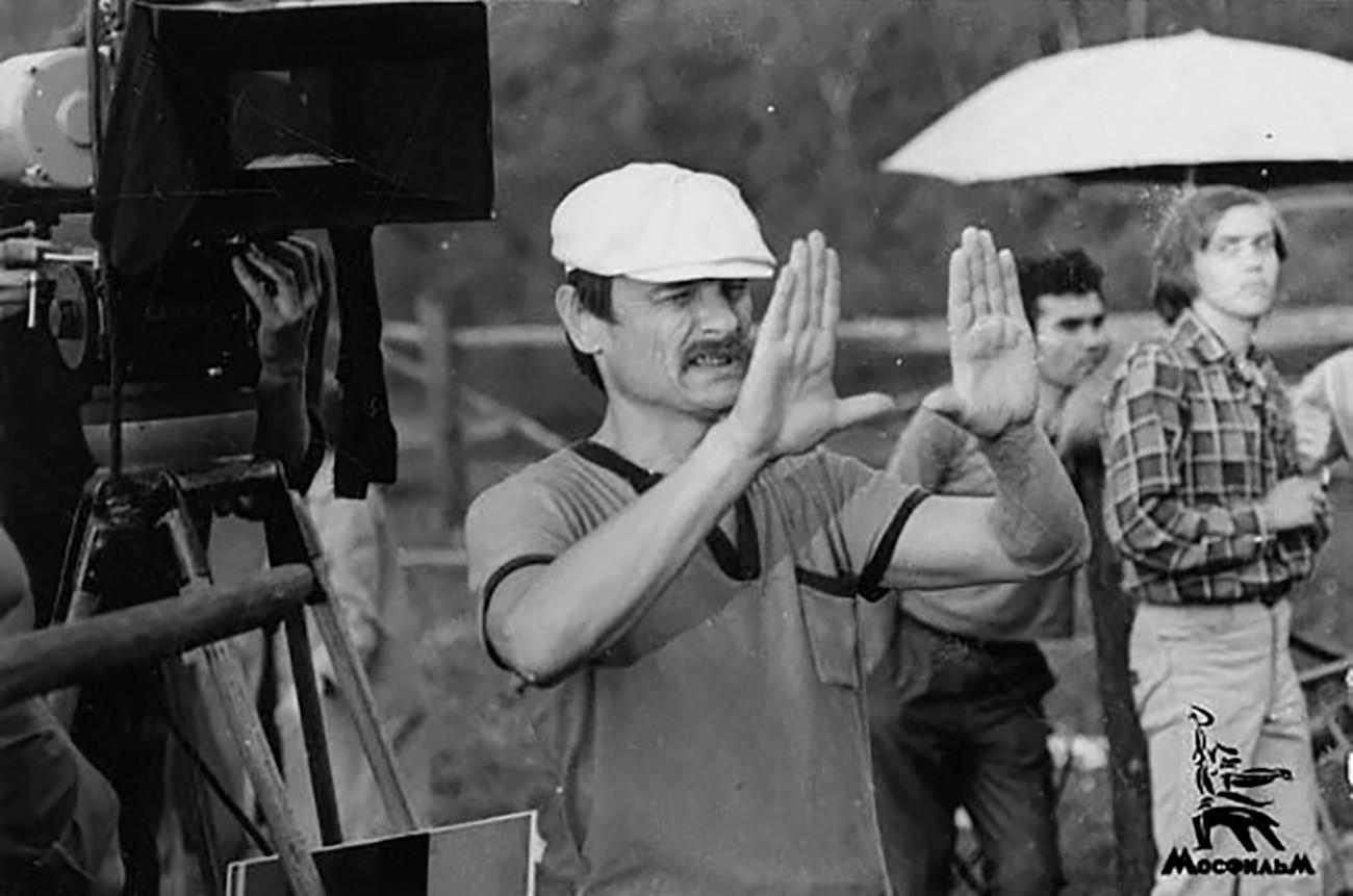 Na snemanju filma Andreja Tarkovskog Zrcalo (1974)
