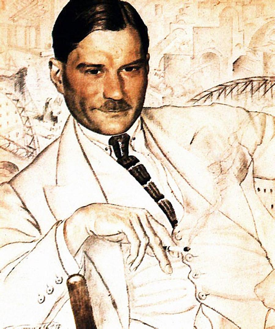 『エヴゲーニー・ザミャーチン』、ボリス・クストーディエフ、1923年