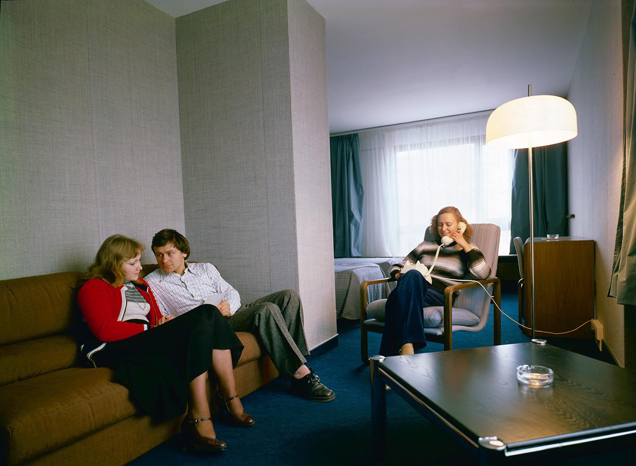 В одном из номеров гостиницы