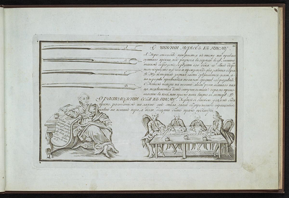 ロシアの習字手本、1787年