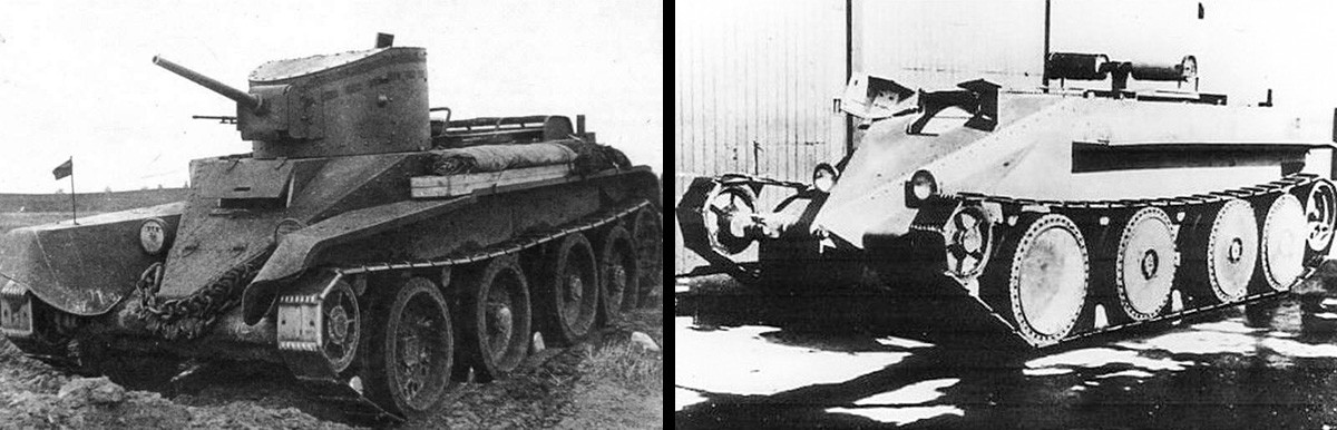 BT-2 tank and Christie M1928 \ M1931.