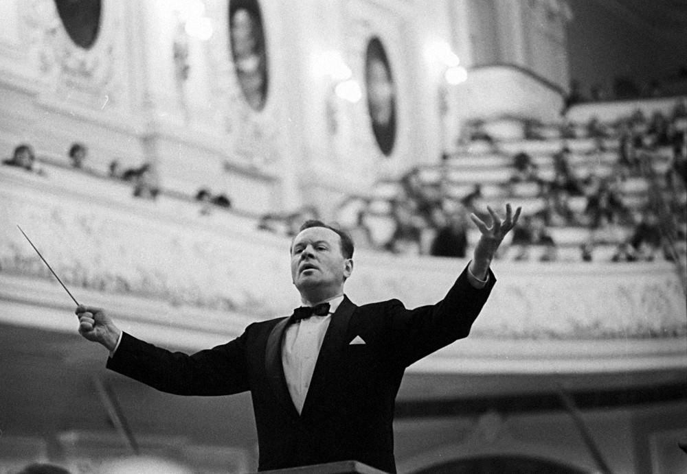 Евгений Светланов, главный дирижёр Государственного академического симфонического оркестра СССР, 1972