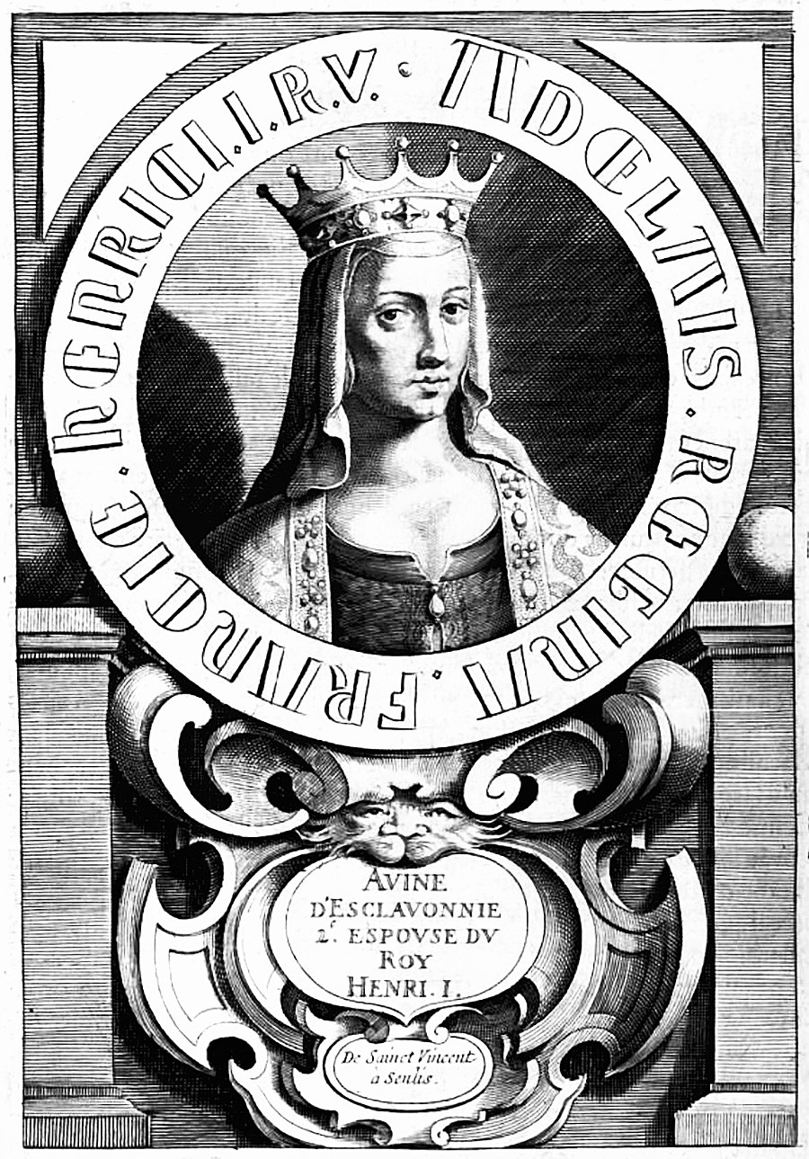 Anna, Queen of France. From the book