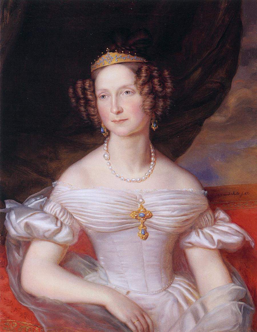 Reina de los Países Bajos, Anna Pavlovna de Rusia (1795-1865) por Jan Baptist van der Hulst