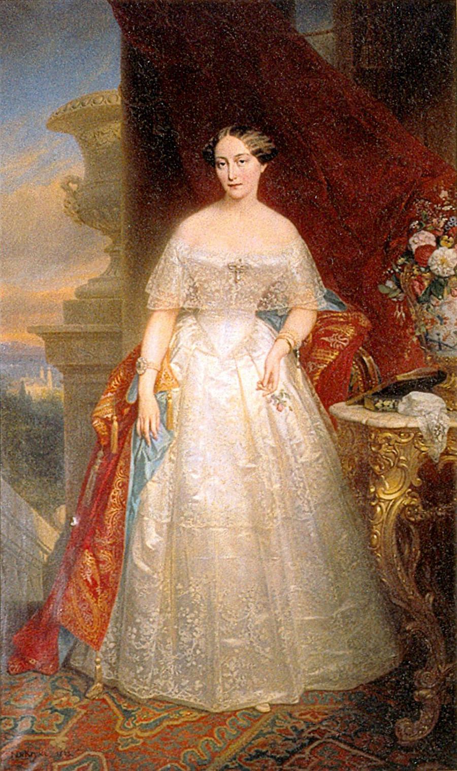 Retrato de Olga de Rusia (1822-1892), princesa de Württemberg por Nicaise de Keyser