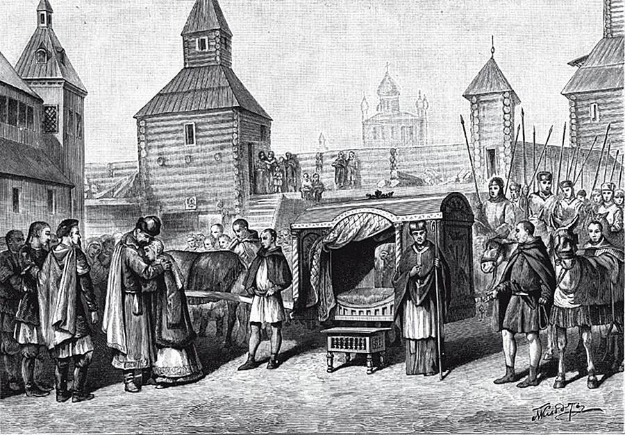 Анна Ярославна заминава за Франция, за да се омъжи за крал Анри I