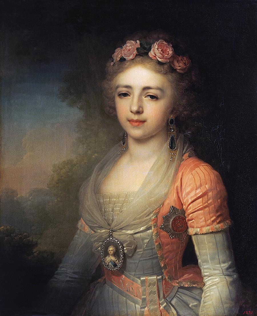 Александра Павловна. Руската велика херцогиня Александър Павловна (1783-1801), унгарска палатина, дъщеря на руския император Павел I, съпруга на австрийския ерцгерцог Йозеф Антон Йохан, палатин на Унгария