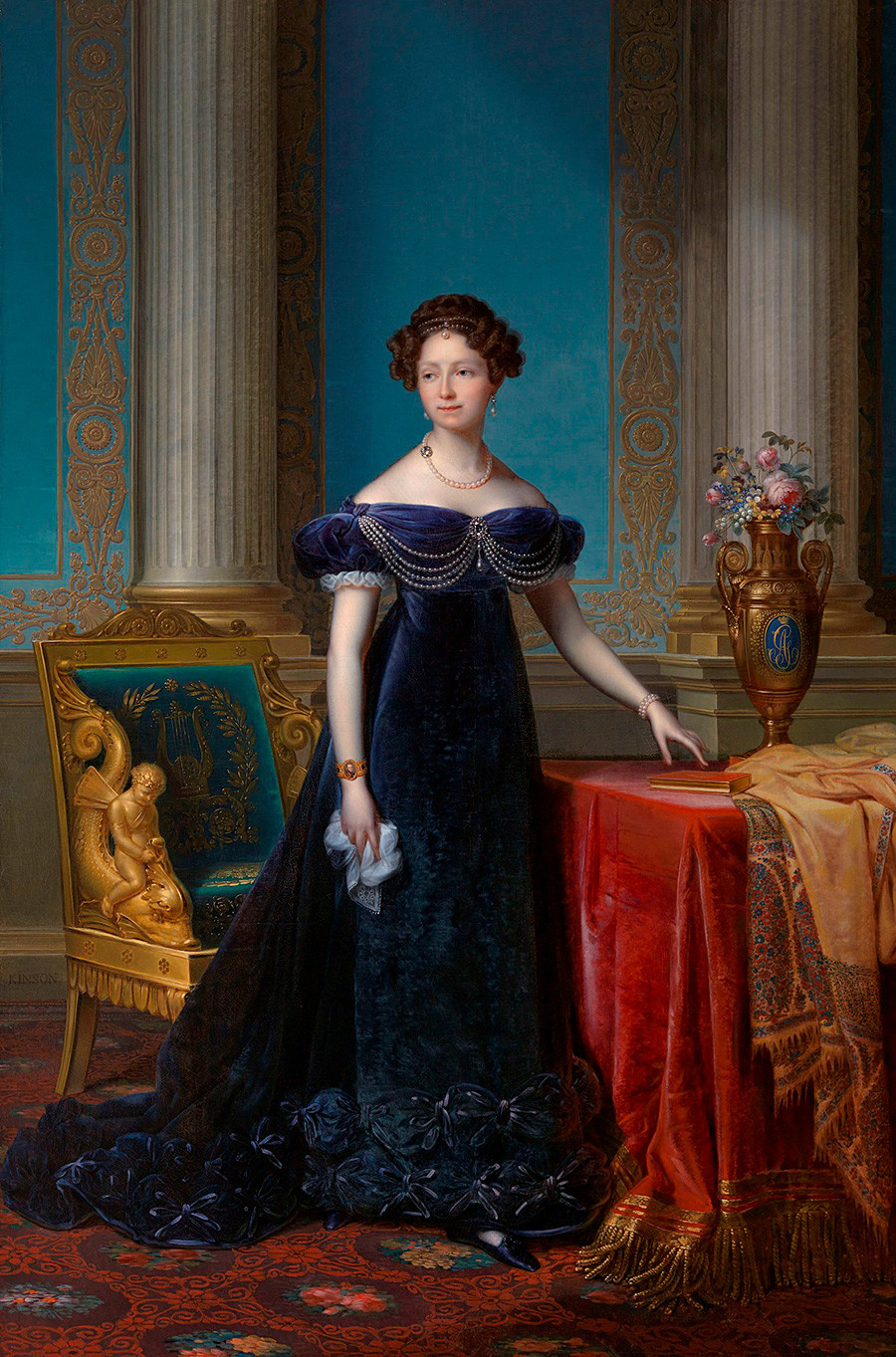 Портрет на Анна Павловна, Франсоа Кинсън, 1824г.