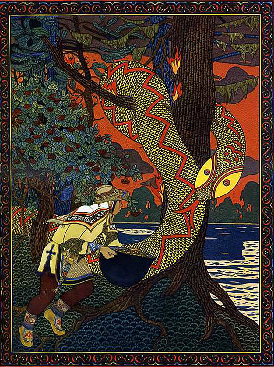 """Змија Симу из књиге """"Амурске приче""""."""