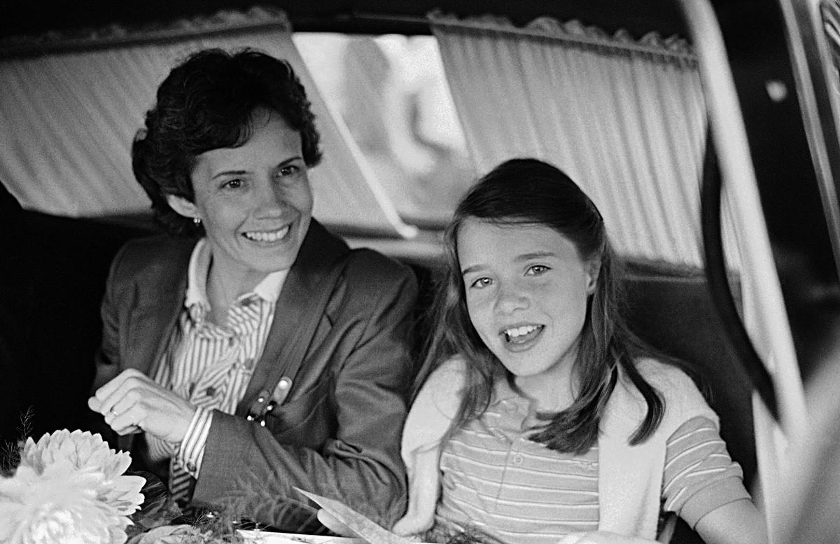 Le 8 juillet 1983, Samantha et sa mère en route pour leur hôtel moscovite