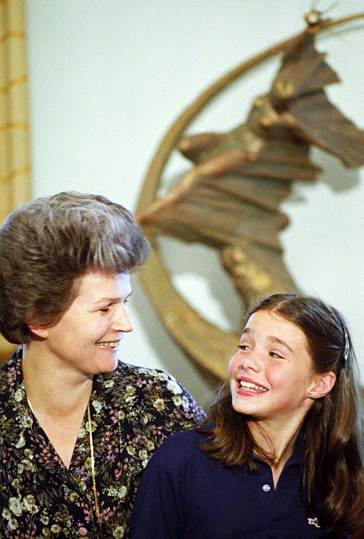 Avec Valentina Terechkova, première femme cosmonaute