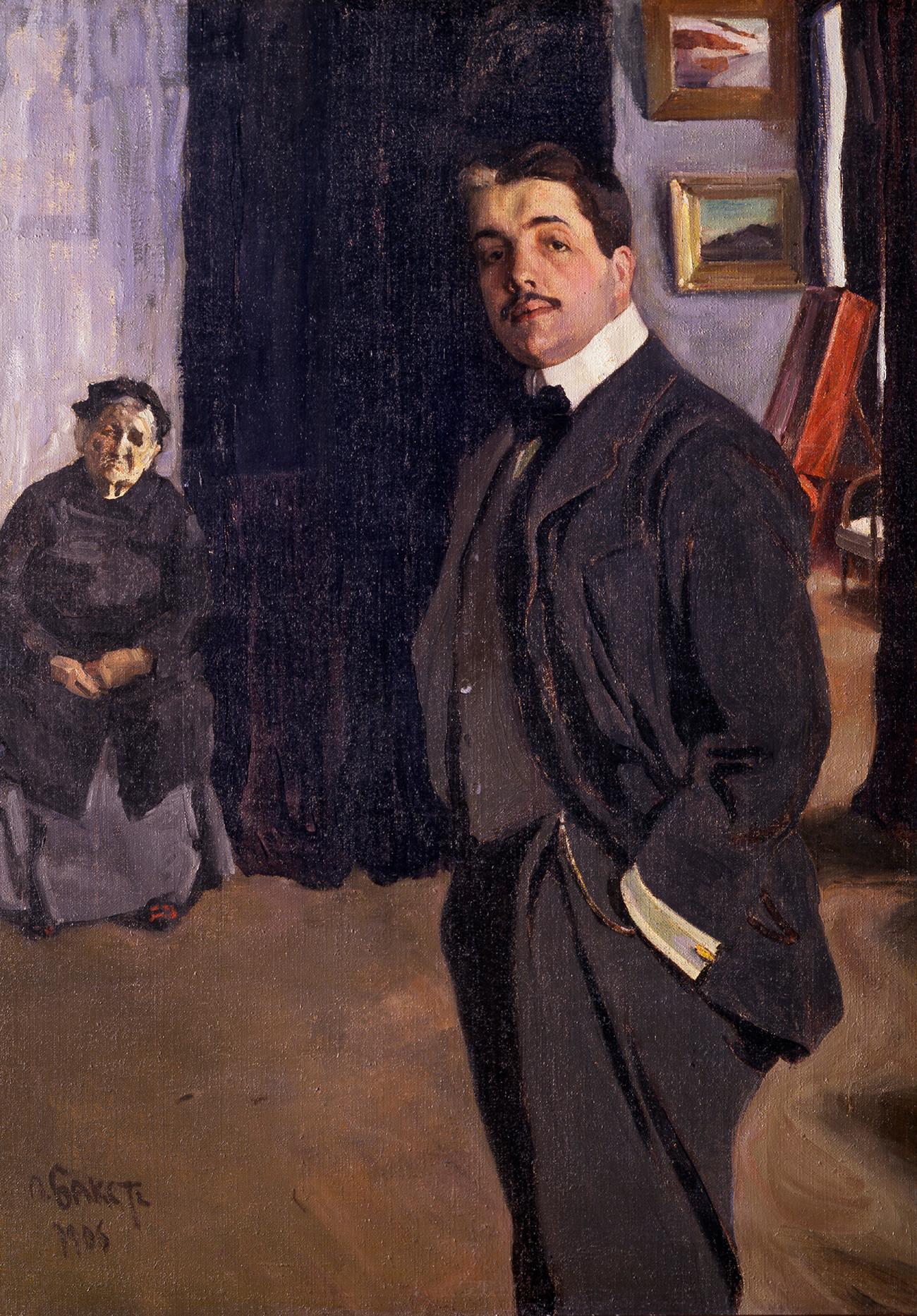Portrait de SergedeDiaghilev et de sa gouvernante, 1906