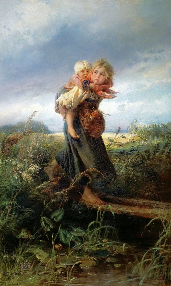 « Enfants fuyant la tempête », 1872