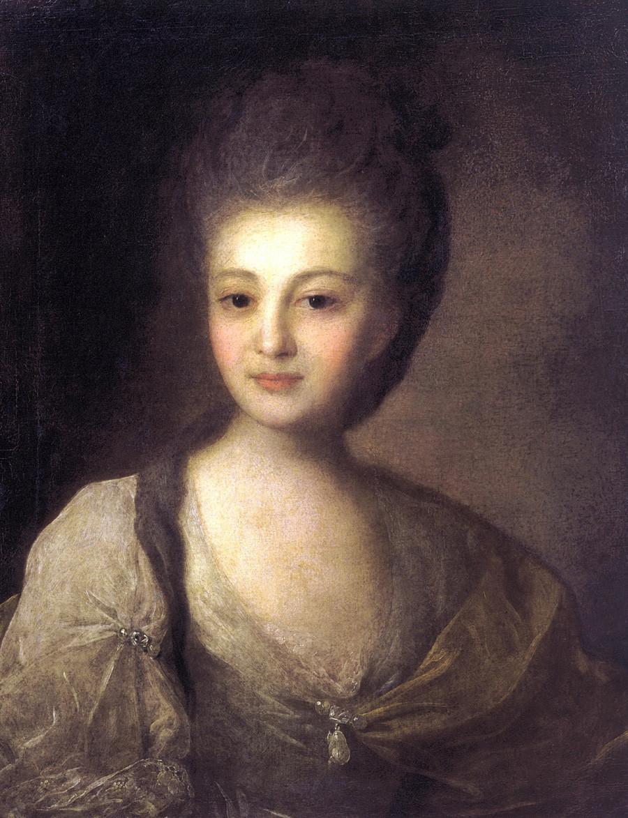« Portrait d'Alexandra Strouïskaïa », 1772