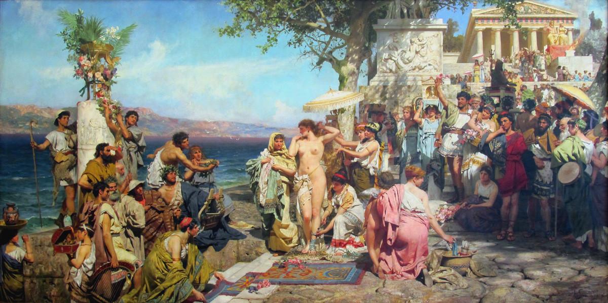 « Phryné aux fêtes de Poséidon à Éleusis », 1889