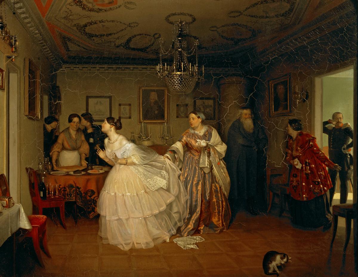 « Fiançailles d'un major », 1848