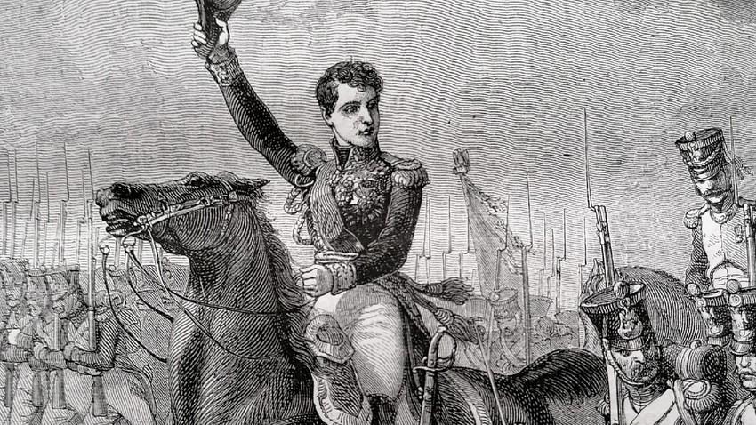 Le général Gudin en campagne. (illustration de 1873)