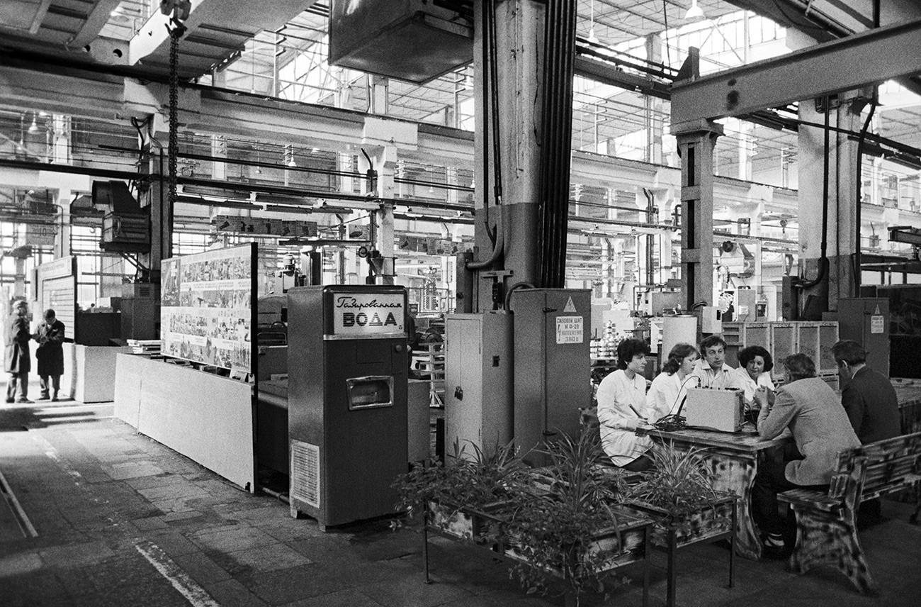 En una fábrica metalúrgica soviética