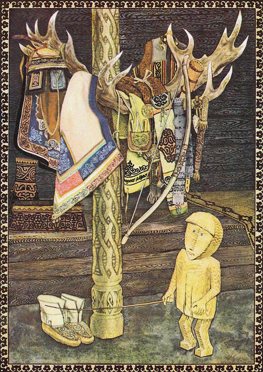 Дюлен из нанайской сказки «Гарламди – меткий стрелок»