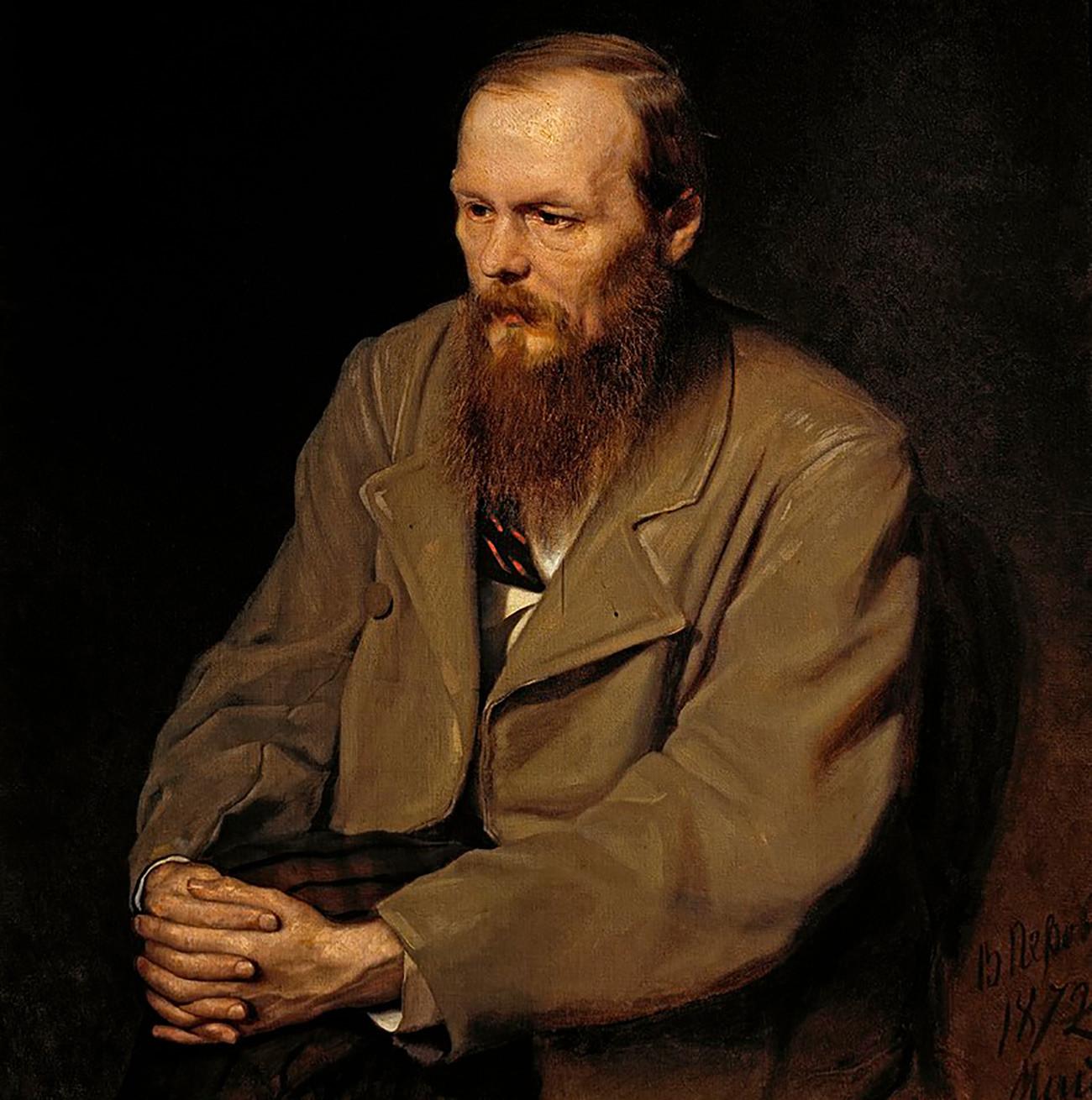 Porträt von Fjodor Dostojewski