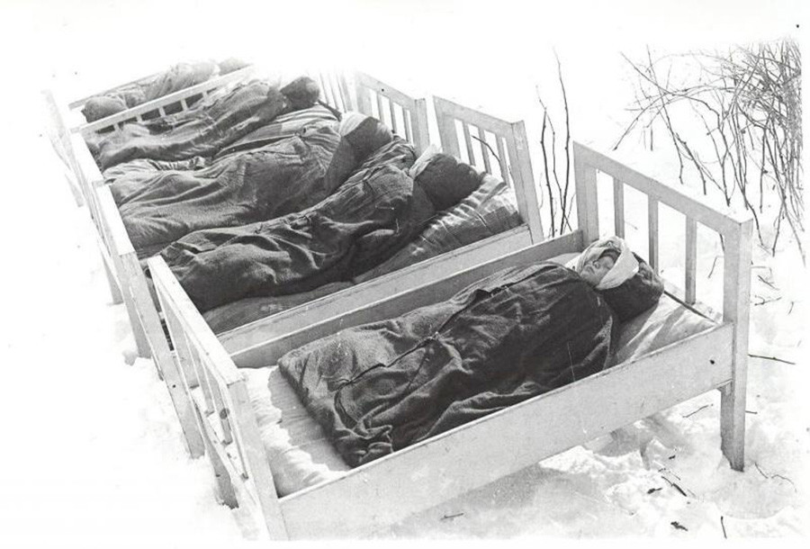 Soneca ao ar livre na década de 1950